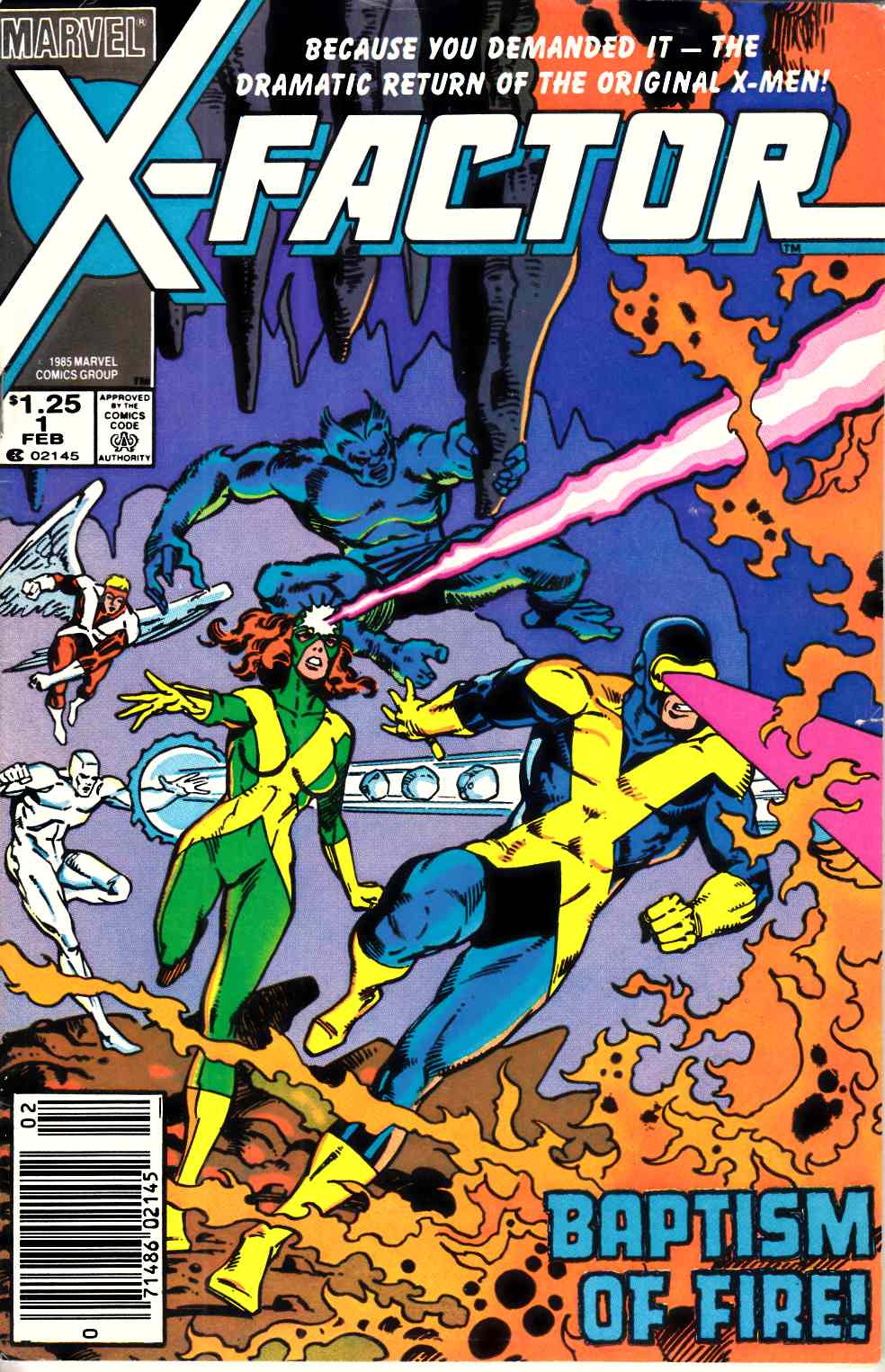 X-Factor #1 Newsstand Edition Fine (6.0) [Marvel Comic] THUMBNAIL
