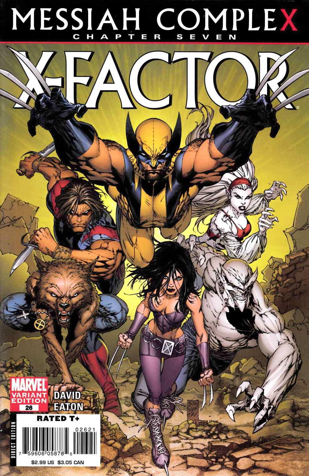 X-Factor #26 Silvestri Variant Cover Very Fine (8.0) [Marvel Comic] THUMBNAIL
