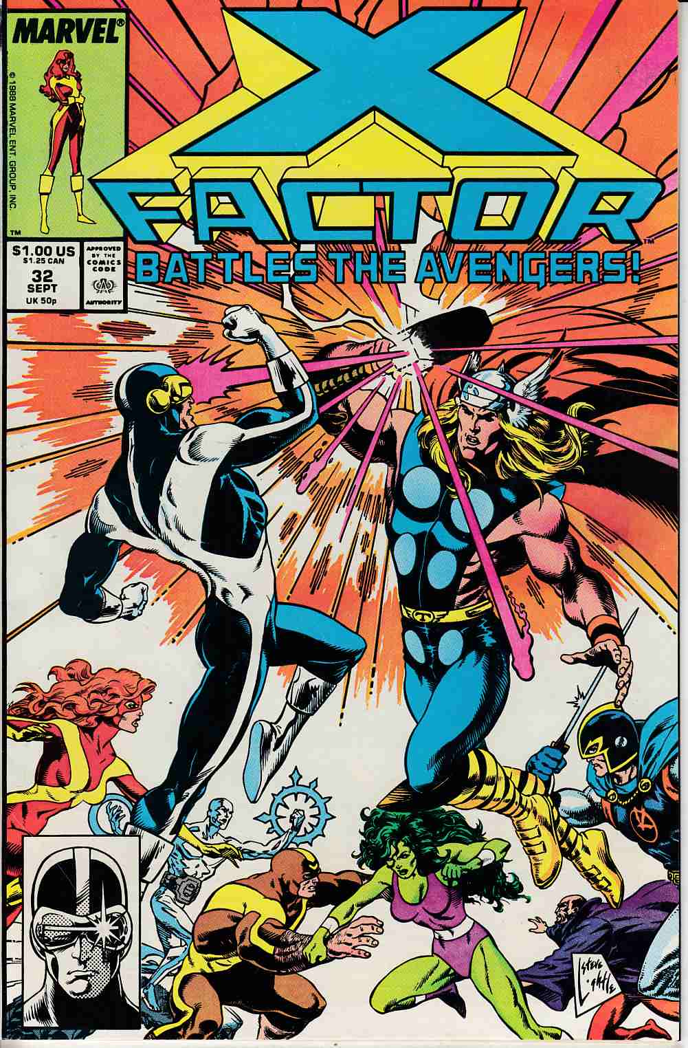 X-Factor #32 Near Mint Minus (9.2) [Marvel Comic] LARGE