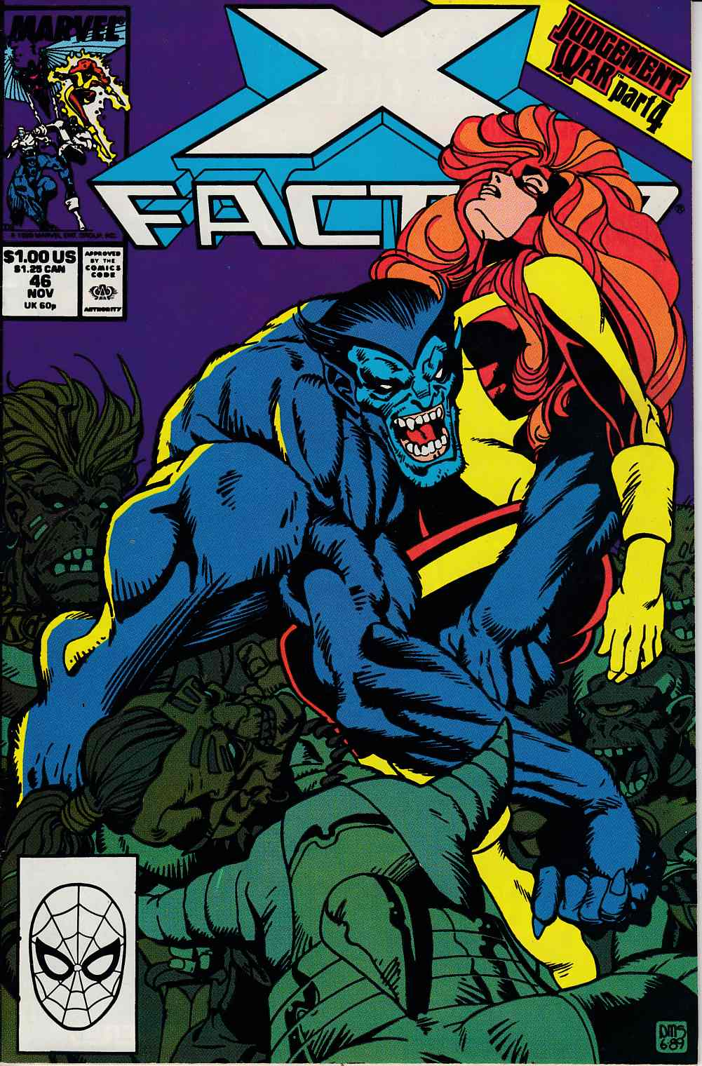 X-Factor #46 Very Fine (8.0) [Marvel Comic] LARGE
