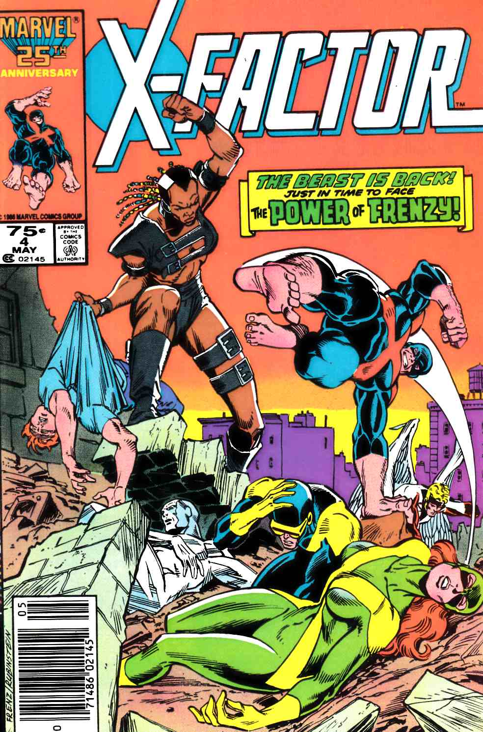 X-Factor #4 Newsstand Edition Very Fine Plus (8.5) [Marvel Comic] THUMBNAIL