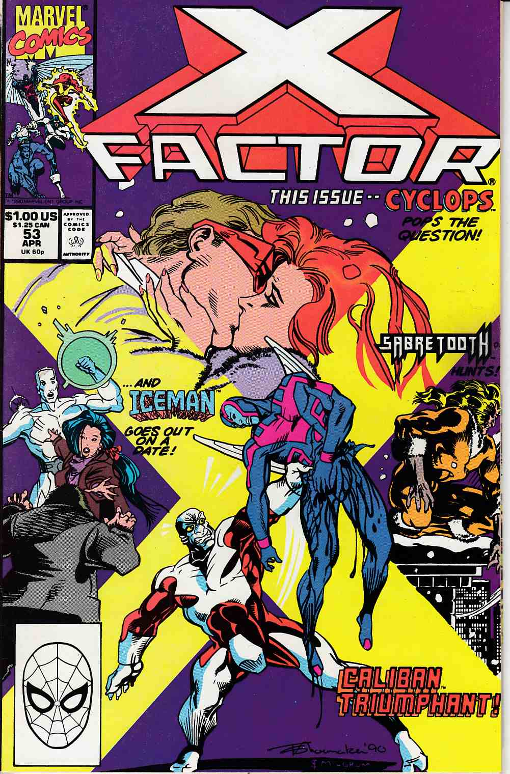 X-Factor #53 Near Mint (9.4) [Marvel Comic] LARGE