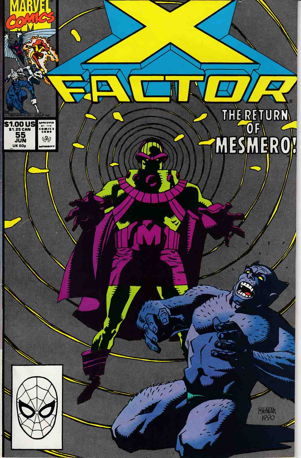 X-Factor #55 Very Fine Minus (7.5) [Marvel Comic] LARGE