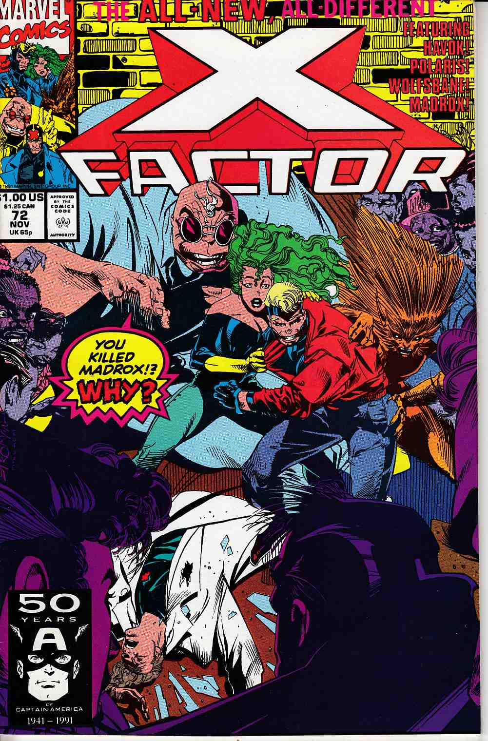 X-Factor #72 Fine (6.0) [Marvel Comic] LARGE