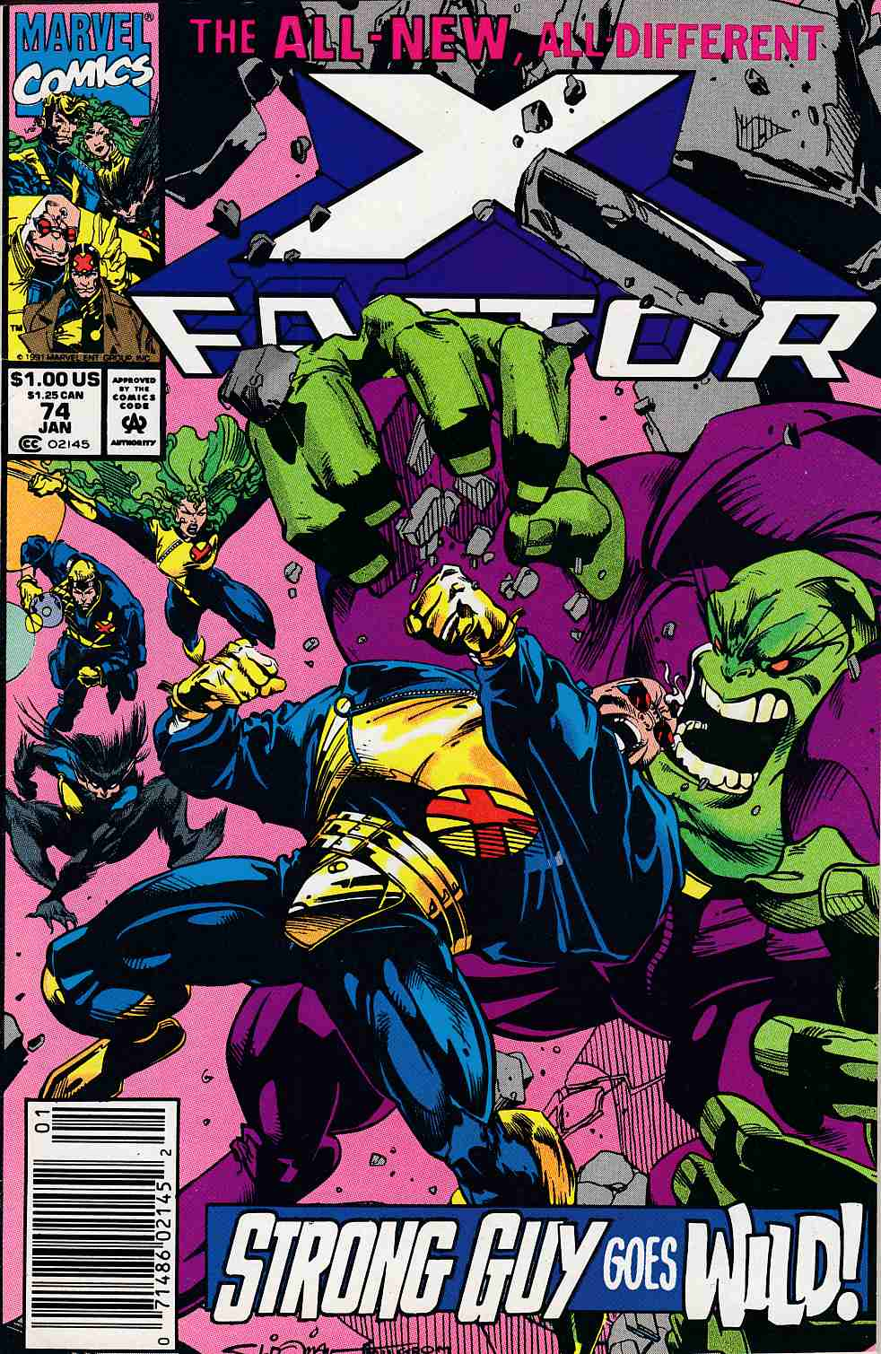 X-Factor #74 Newsstand Edition Fine (6.0) [Marvel Comic] LARGE