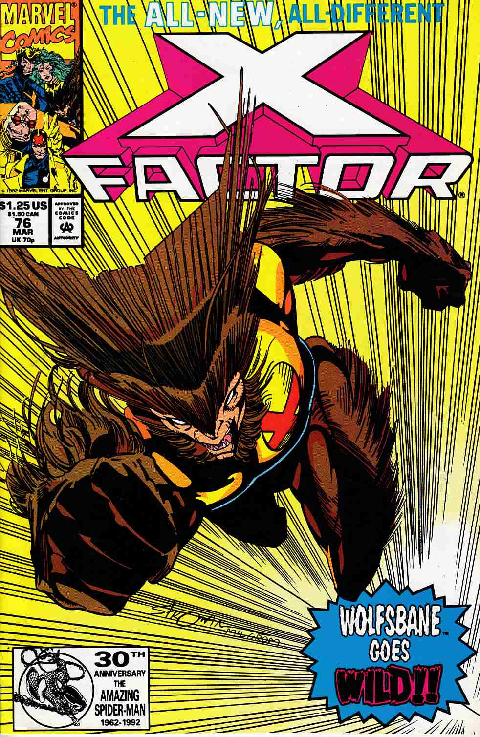 X-Factor #76 Very Fine (8.0) [Marvel Comic] LARGE