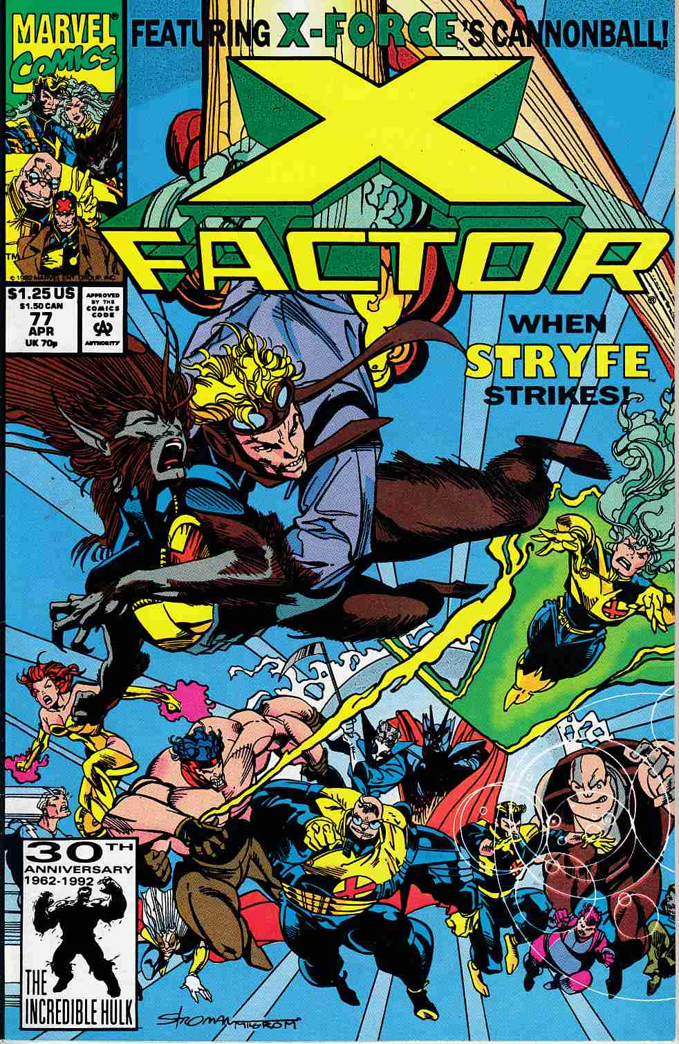 X-Factor #77 Very Fine (8.0) [Marvel Comic] LARGE