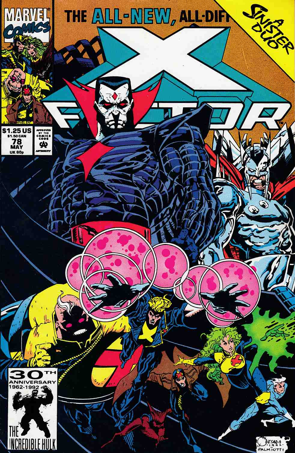 X-Factor #78 Very Fine (8.0) [Marvel Comic] LARGE