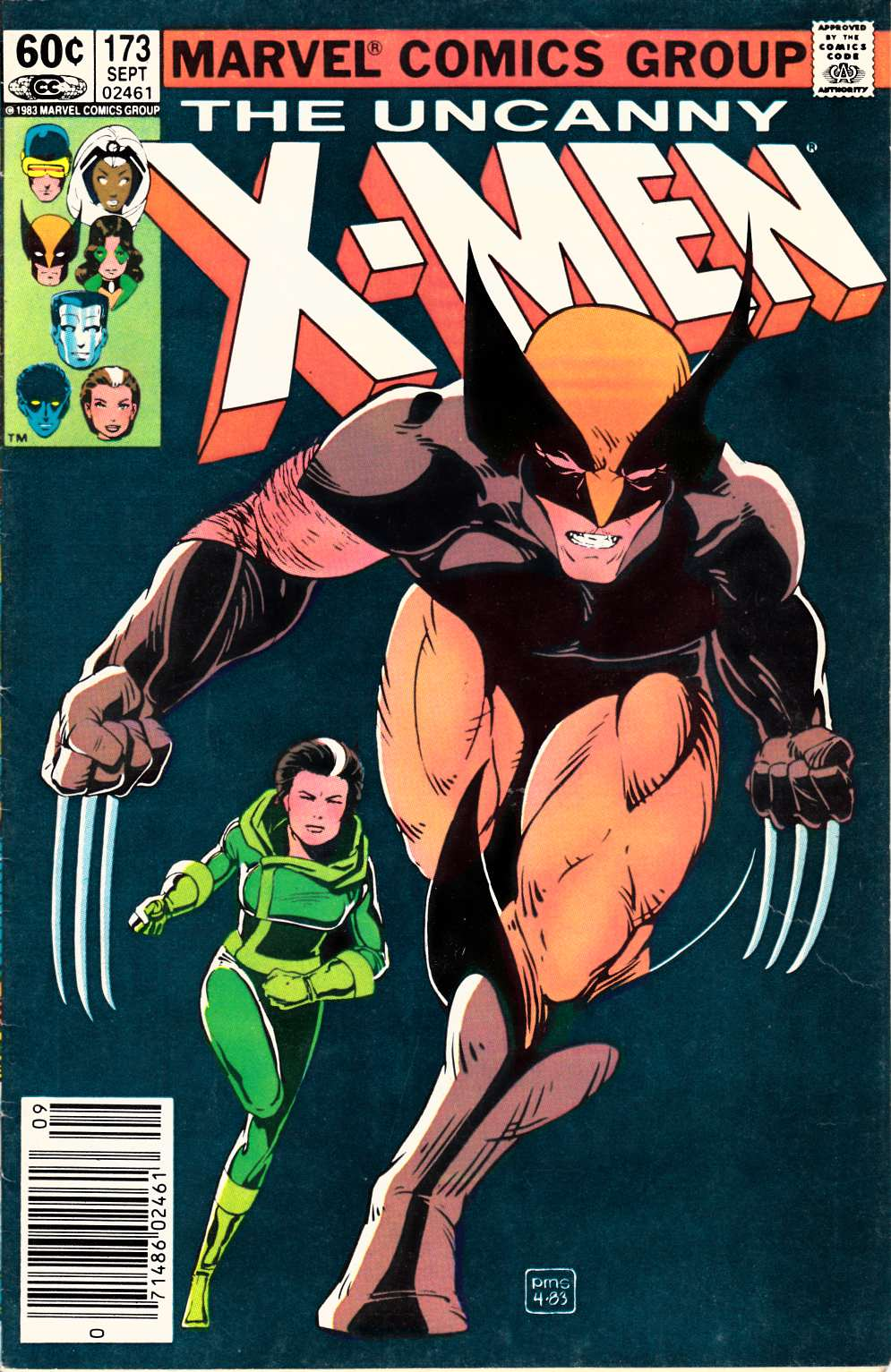 Uncanny X-Men #173 Newsstand Edition Very Good Plus (4.5) [Marvel Comic]