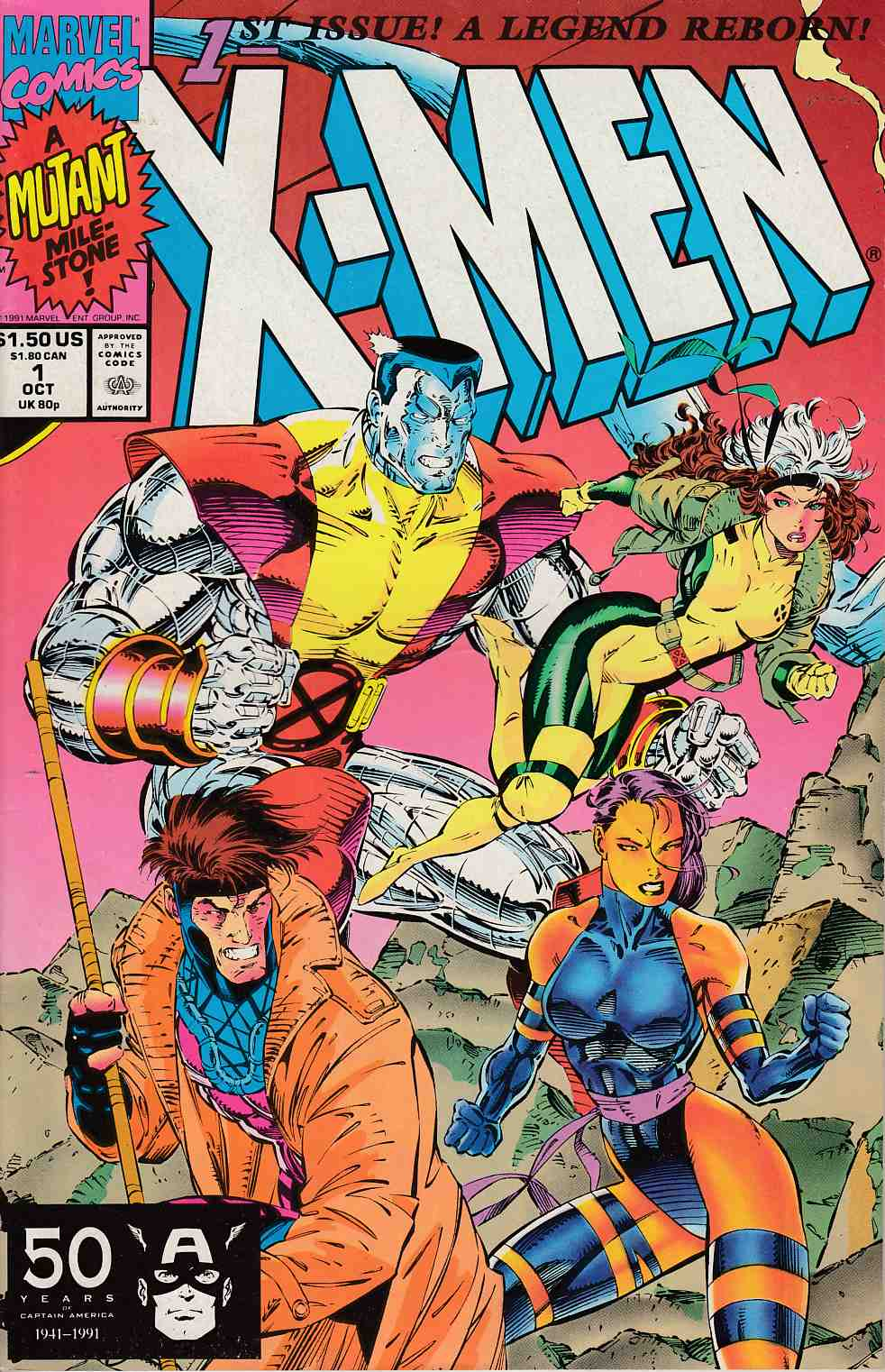 X-Men #1 Cover B Very Fine Minus (7.5) [Marvel Comic] THUMBNAIL