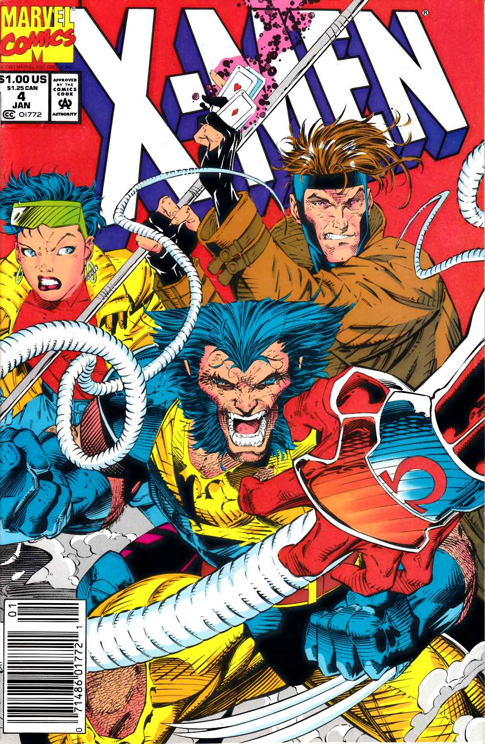 X-Men #4 Newsstand Edition Fine (6.0) [Marvel Comic] THUMBNAIL
