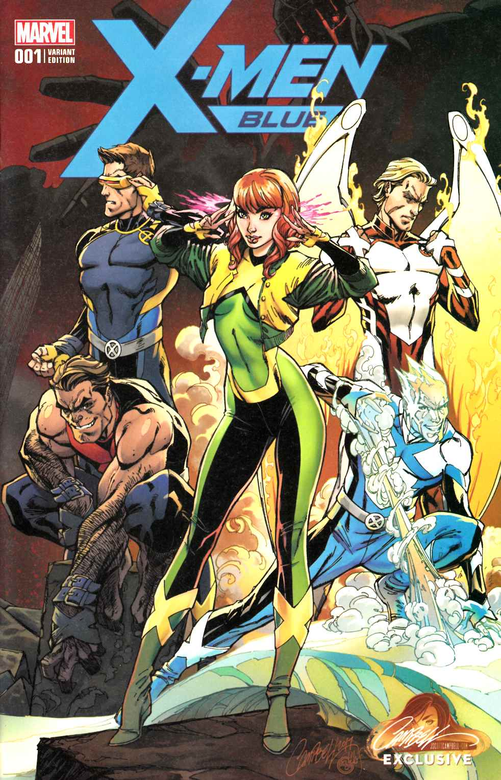 X-Men Blue #1 J Scott Campbell Exclusive Variant Cover A [Marvel Comic]_THUMBNAIL
