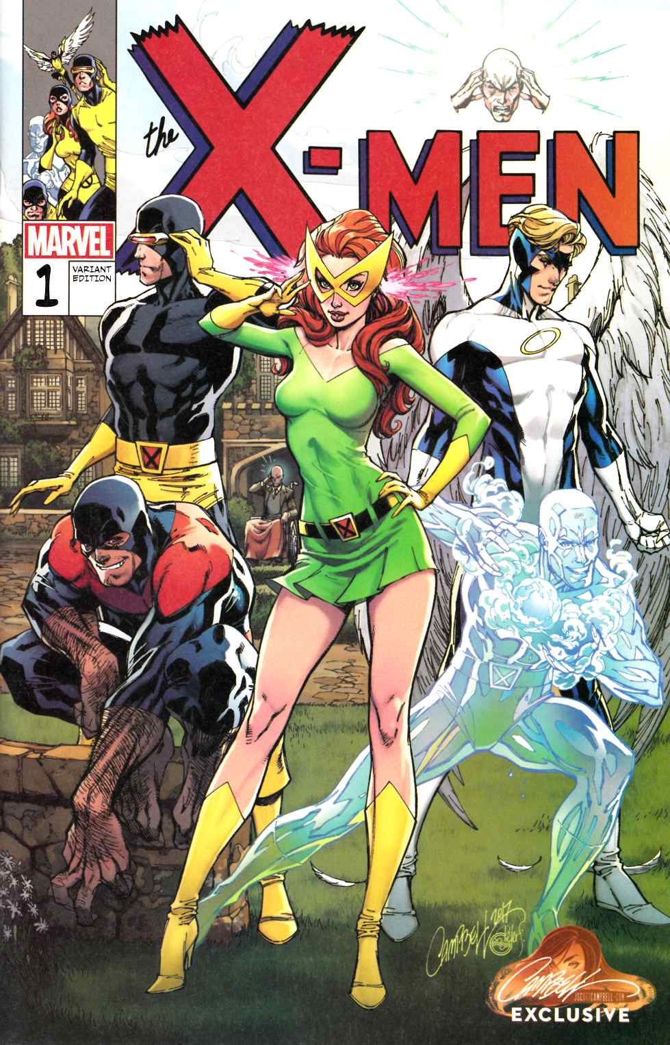 X-Men Blue #1 J Scott Campbell Exclusive Variant Cover B [Marvel Comic]_THUMBNAIL