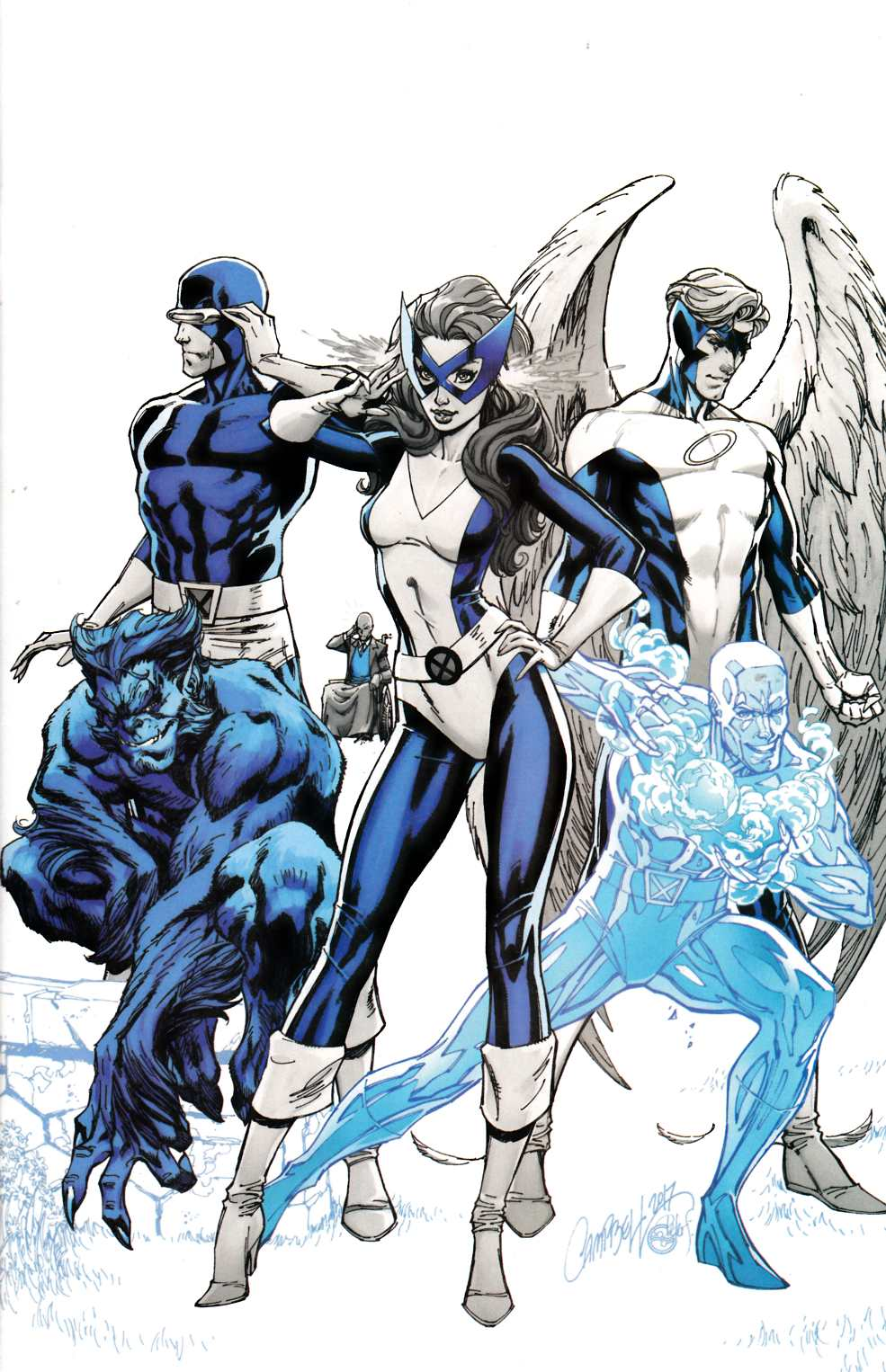 X-Men Blue #1 J Scott Campbell Exclusive Variant Cover C [Marvel Comic]_THUMBNAIL