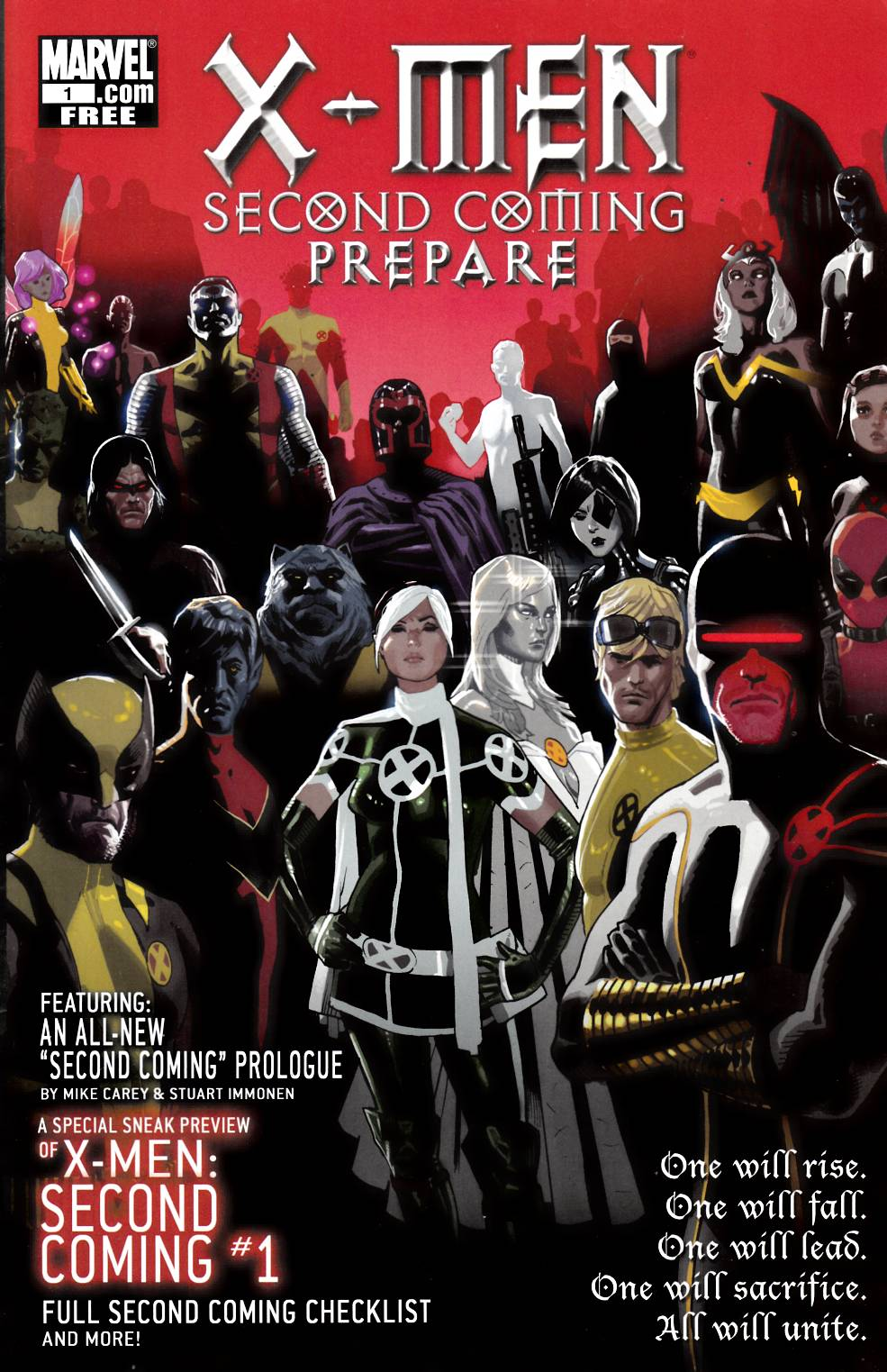 X-Men Second Coming Prepare (One Shot) Fine (6.0) [Marvel Comic] THUMBNAIL