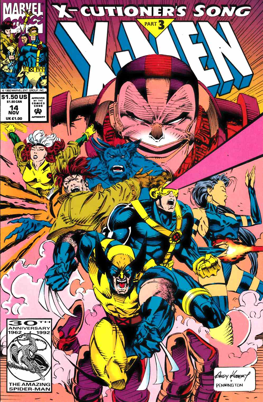 X-Men #14 Unbagged Fine (6.0) [Marvel Comic] THUMBNAIL