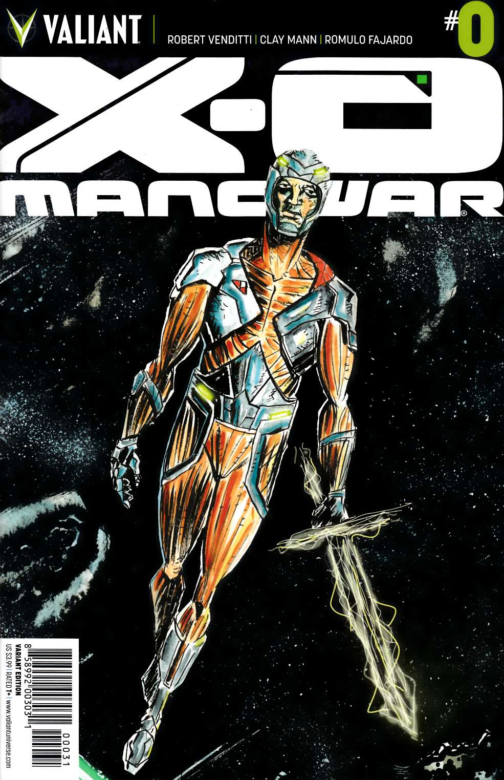 X-O Manowar #0 Cover H- Lemire Incentive [Comic] THUMBNAIL