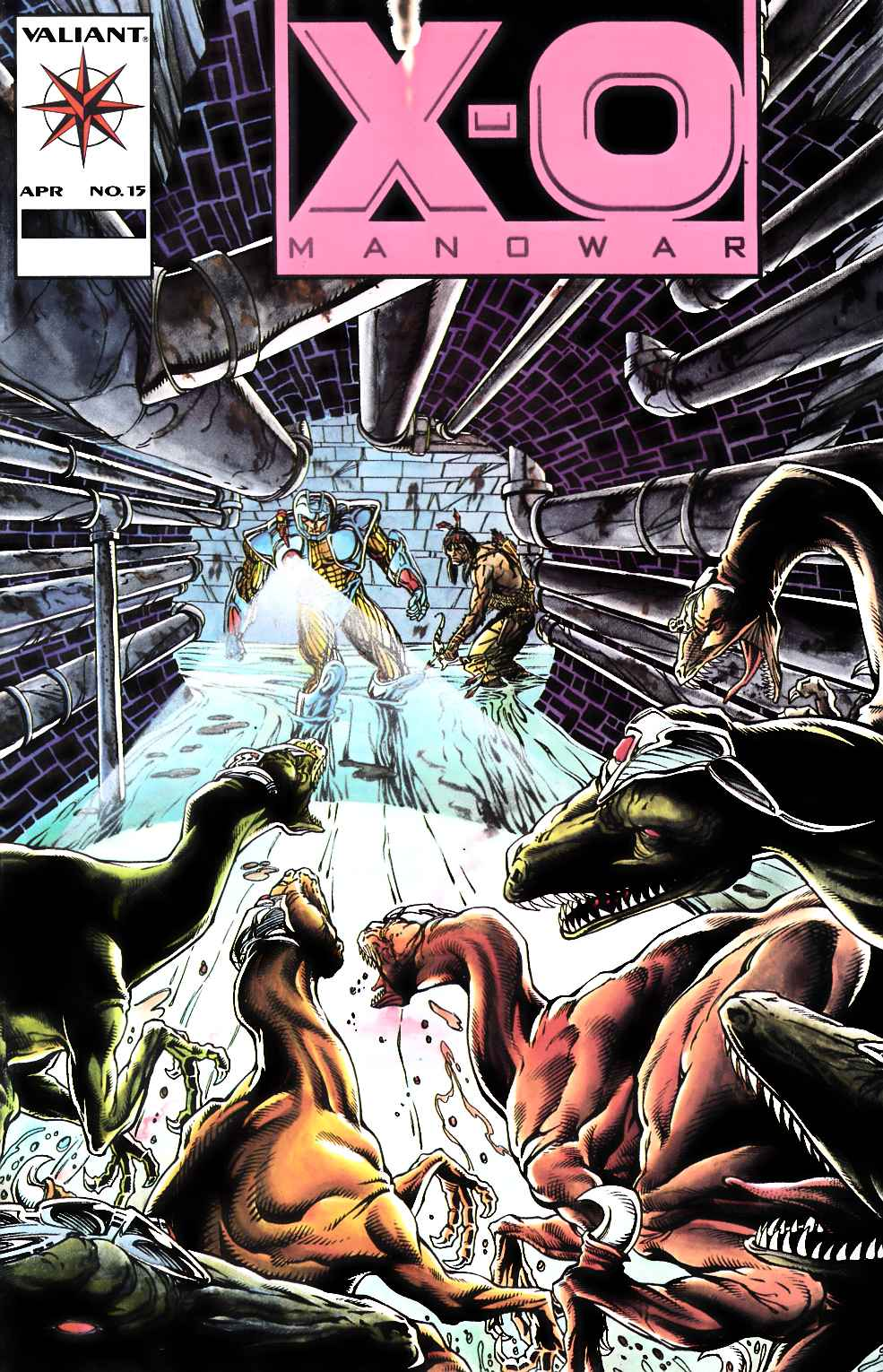 X-O Manowar #15 Pink Logo Very Good (4.0) [Valiant Comic] THUMBNAIL