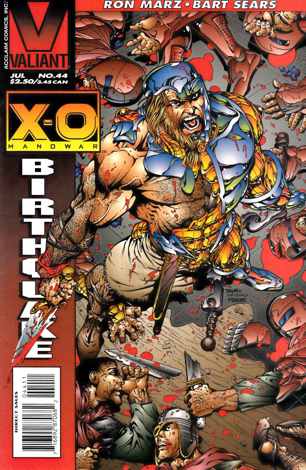 X-O Manowar #44 Near Mint Minus (9.2) [Valiant Comic] THUMBNAIL