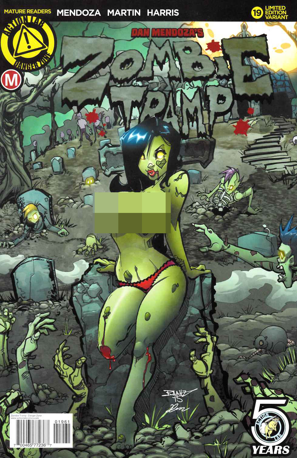 Zombie Tramp Ongoing #19 Kintz Risque Variant Cover [Danger Zone Comic]