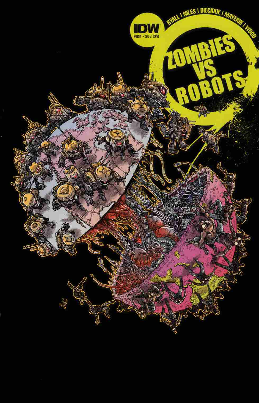 Zombies vs Robots #4 Subscription Cover [IDW Comic]_THUMBNAIL