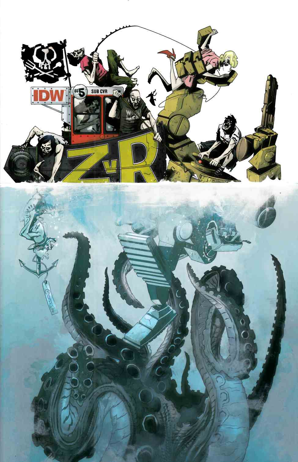 Zombies vs Robots #5 Subscription Cover [IDW Comic] THUMBNAIL