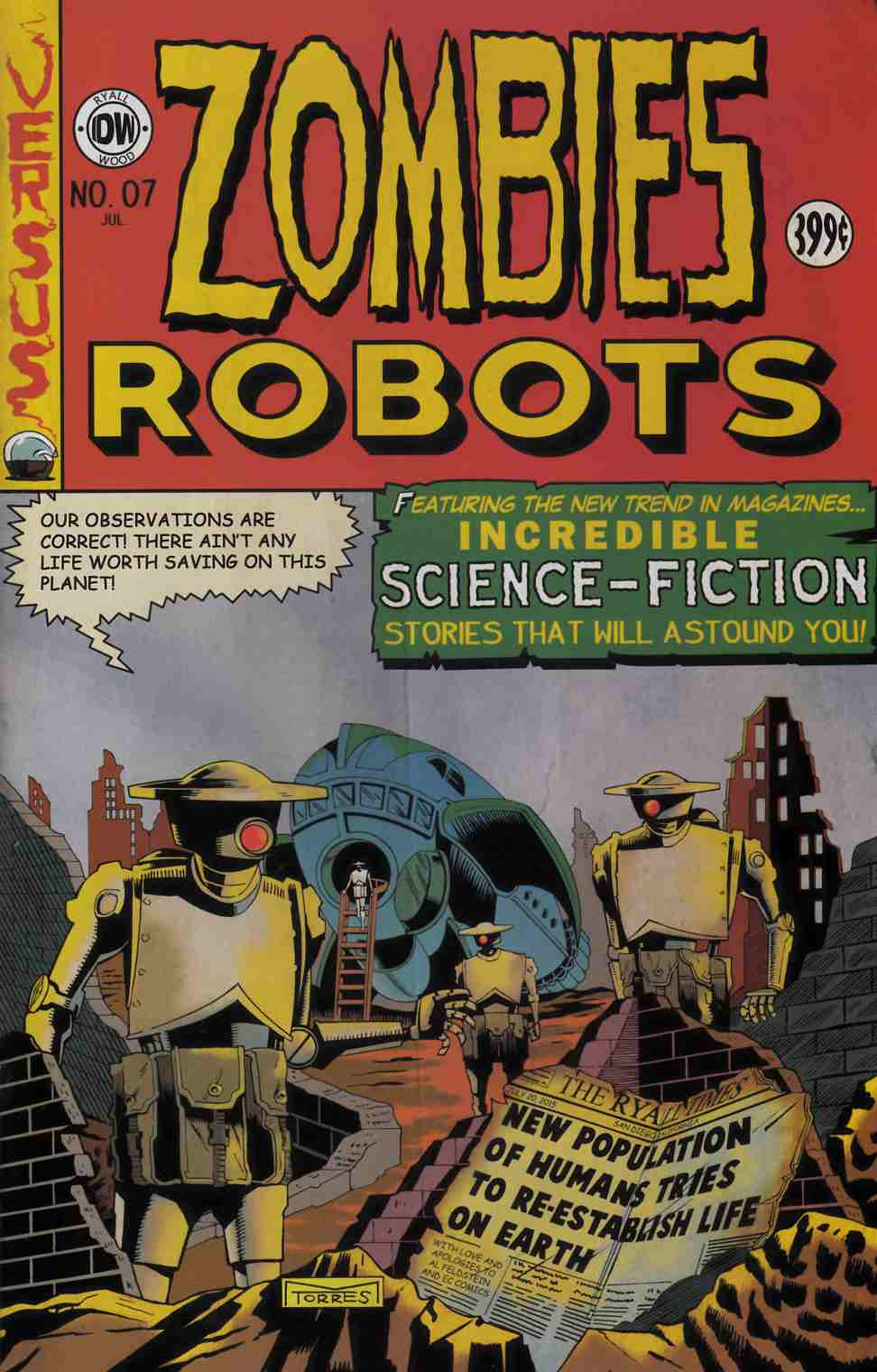 Zombies vs Robots #7 EC Subscription Cover [IDW Comic] THUMBNAIL