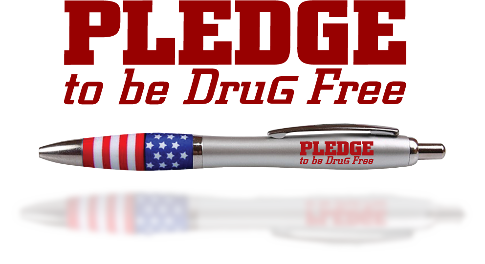 Designer Grip Pen:Pledge to be Drug Free MAIN