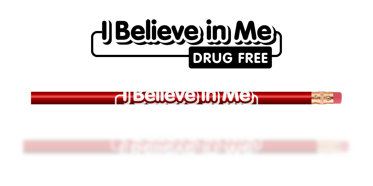 Red Pencil: I Believe in Me Drug Free MAIN