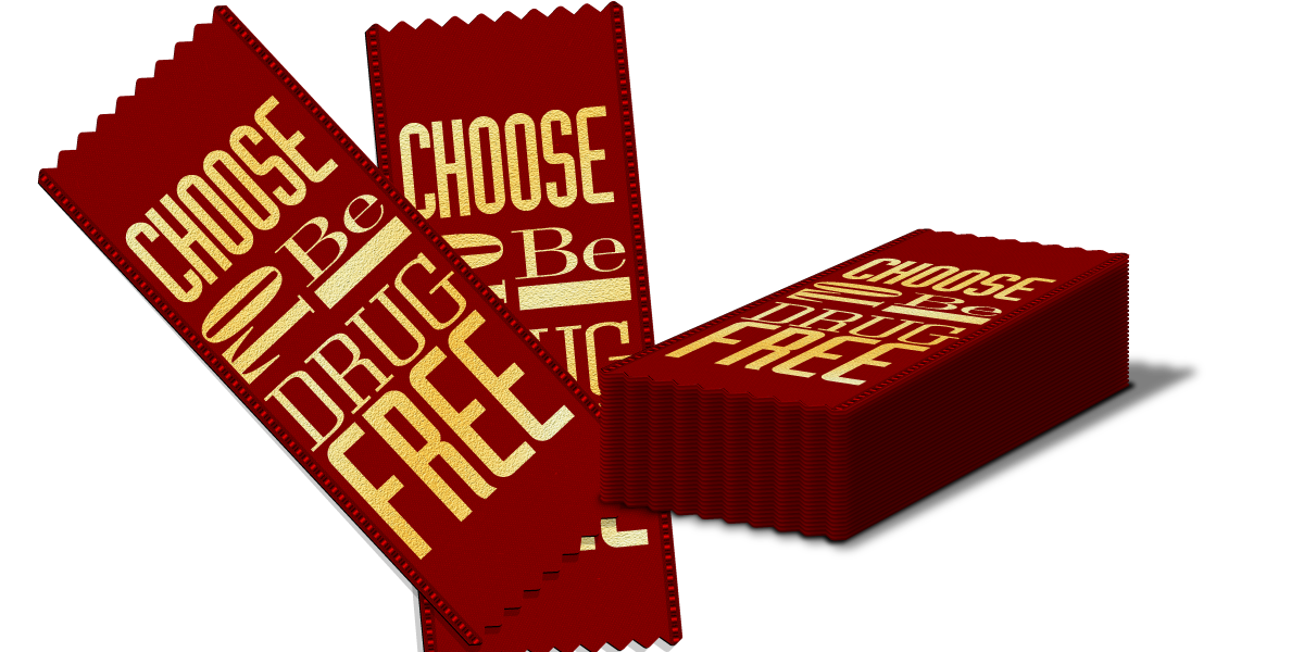 Red Ribbon: Choose to be Drug Free THUMBNAIL