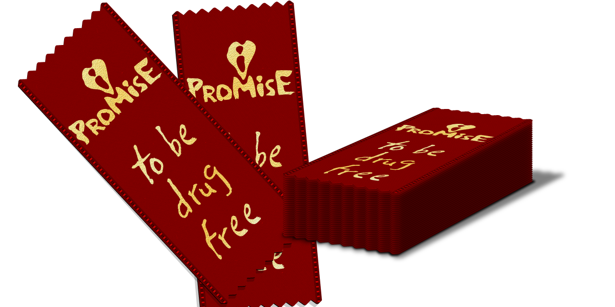 Red Ribbon: I Promise to be Drug Free THUMBNAIL