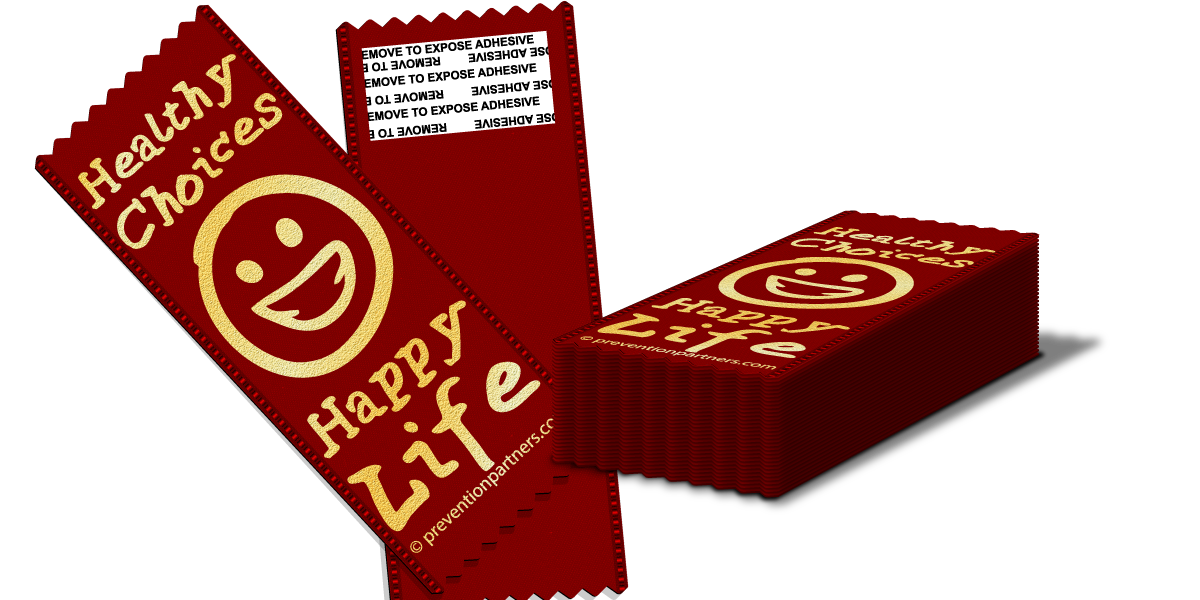 Adhesive Ribbon: Healthy Choices Happy Life THUMBNAIL