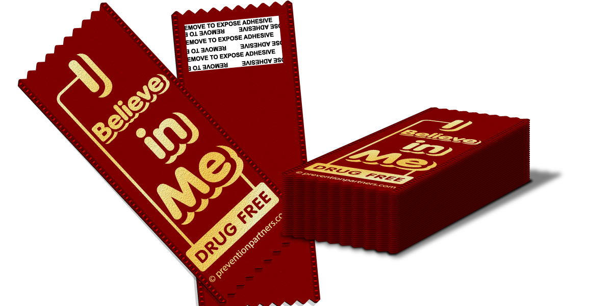 Adhesive Ribbon: I Believe in Me Drug Free MAIN
