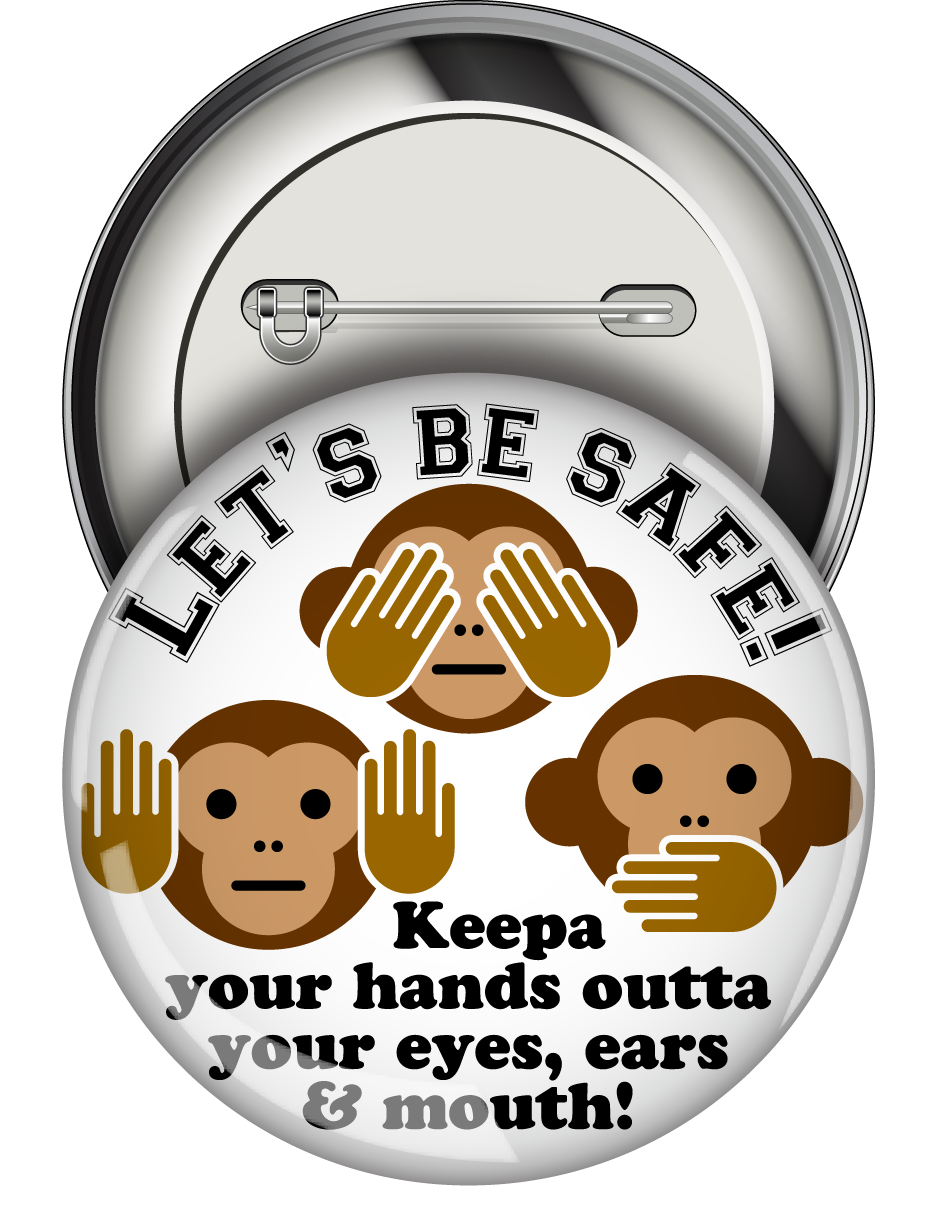 Round Button: Let's Be Safe MAIN