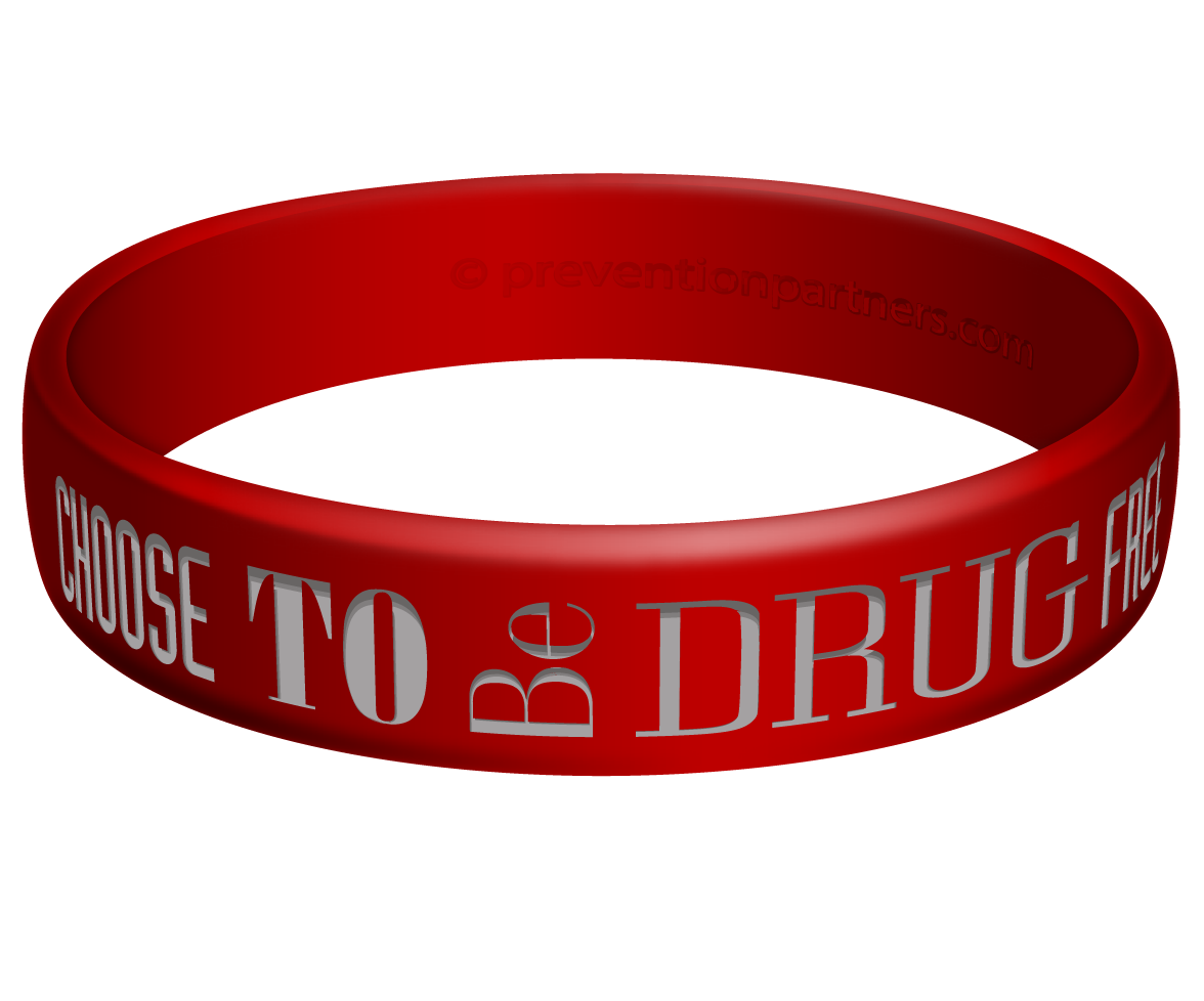 Awareness Wristband: Choose to be Drug Free THUMBNAIL