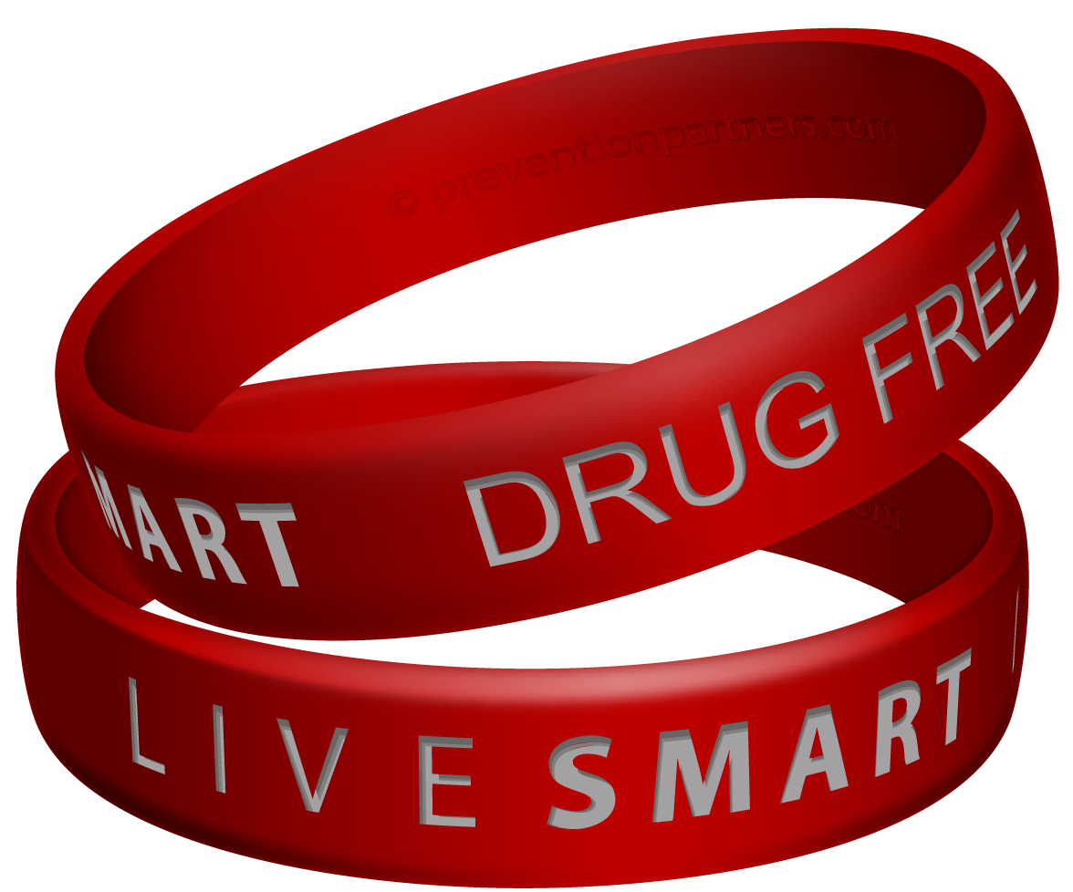 Awareness Wristband: Live Smart Drug Free THUMBNAIL