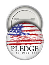 Round Button:Pledge to be Drug Free THUMBNAIL