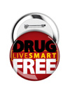 Round Button: Live Smart Drug Free THUMBNAIL