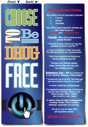 Bookmark: Choose to be Drug Free MAIN
