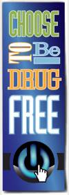 Bookmark: Choose to be Drug Free THUMBNAIL