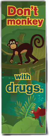 Bookmark: Don't Monkey with Drugs MAIN