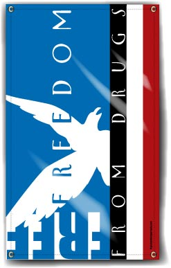 Indoor/Outdoor Vinyl Banner: Freedom from Drugs MAIN