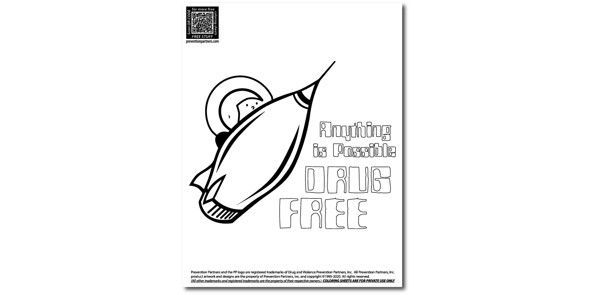 FREE Downloadable Coloring Sheet - Anything Possible Drug Free THUMBNAIL