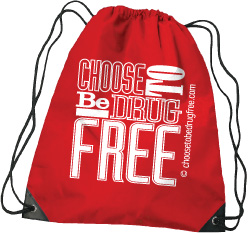 Drawstring Backpack: Choose to be Drug Free MAIN