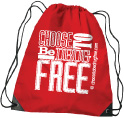 Drawstring Backpack: Choose to be Drug Free THUMBNAIL