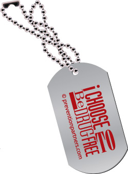 Dog Tag: I Choose to be Drug Free MAIN