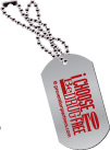 Dog Tag: I Choose to be Drug Free THUMBNAIL