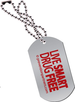 Dog Tag: Live Smart Drug Free MAIN