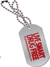 Dog Tag: Live Smart Drug Free THUMBNAIL