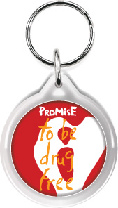 Zipper Tag: I Promise to be Drug Free MAIN